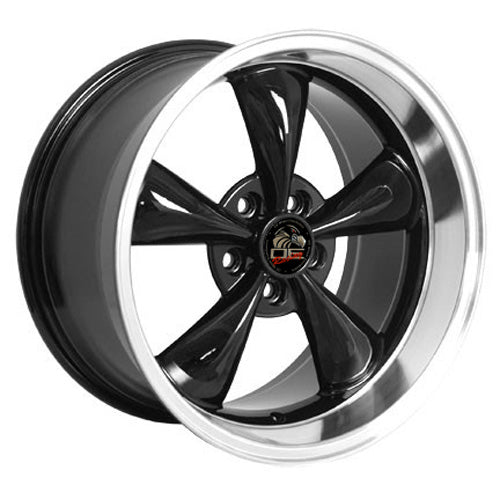 "18"" Fits Ford - Mustang Bullitt Wheel - Black Mach'd Lip 18x1 