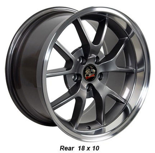 "18"" Fits Ford - Mustang FR5 Wheel - Anthracite Mach'd Lip 18x1 