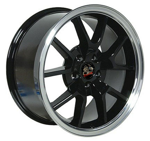 "18"" Fits Ford - Mustang FR5 Wheel - Black Mach'd Lip 18x9 