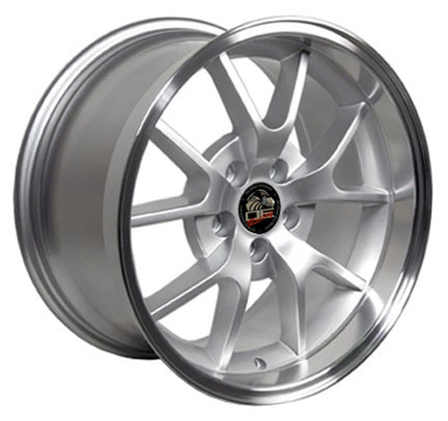 "18"" Fits Ford - Mustang FR5 Wheel - Silver Mach'd Lip 18x1 