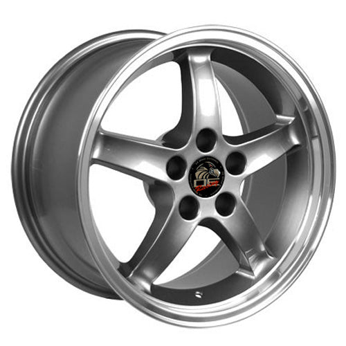 "17"" Fits Ford - Mustang Cobra R Deep Dish Wheel - Gunmetal Mach'd Lip 17x9 