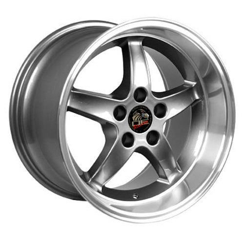 "17"" Fits Ford - Mustang Cobra R Deep Dish Wheel - Gunmetal Mach'd Lip 17x1.5 