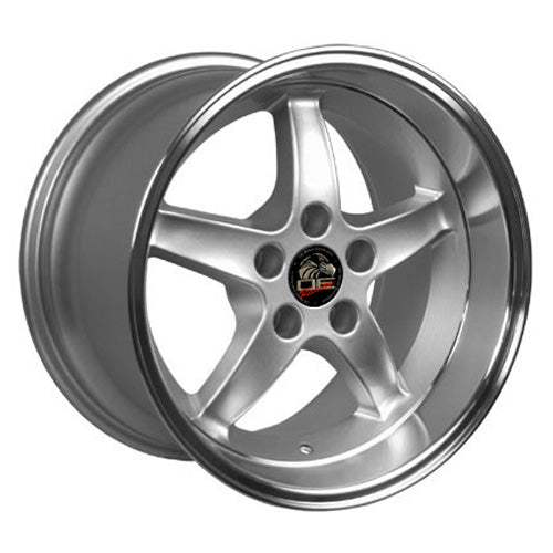 "17"" Fits Ford - Mustang Cobra R Deep Dish Wheel - Silver Mach'd Lip 17x1.5 