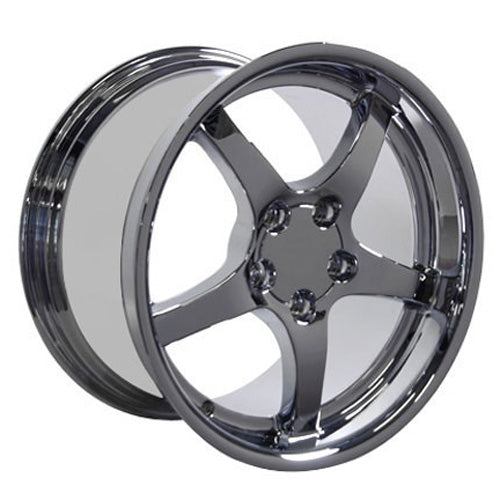 "18"" Fits Chevrolet - Corvette C5 Deep Dish Wheel - Chrome 18x1.5 
