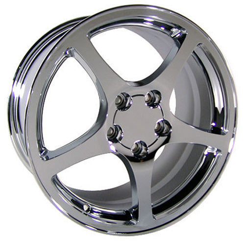 "17"" Fits Corvette - C5 Style Replica Wheel - Chrome 17x8.5 