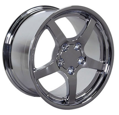 "17"" Fits Chevrolet - Corvette C5 Deep Dish Wheel - Chrome 17x9.5 