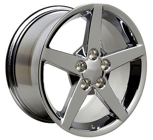 "17"" Fits Chevrolet - Corvette C6 Wheel - Chrome 17x8.5 