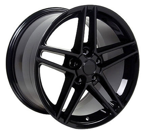 "19"" Fits Chevrolet - Corvette C6 Z6 Wheel - Black 19x10 
