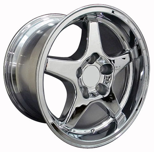 "17"" Fits Corvette - ZR1 Style Replica Wheel - Chrome 17x11 