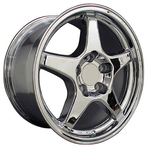 "17"" Fits Corvette - ZR1 Style Replica Wheel - Chrome 17x9.5 