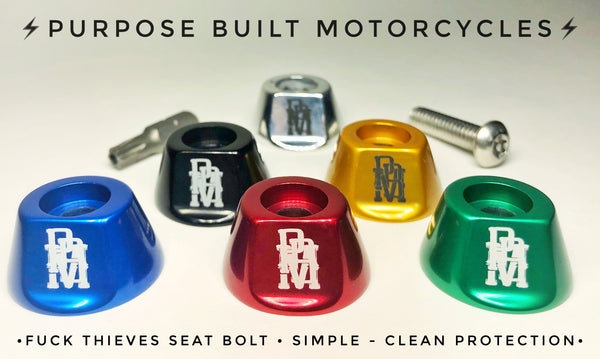 FUCK THIEVES SECURITY SEAT BOLT - ALL MODELS EXCEPT FXR