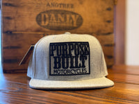 EMBROIDERED PURPOSE BUILT MOTORCYCLES SUPPORT LOGO SNAPBACK HAT