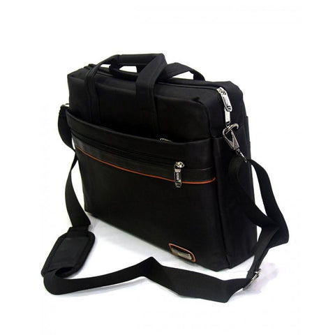 17 inch Trendy Business Men's Briefcase Laptop Bag Backpack - Black