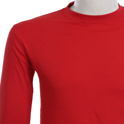 Teemoji Full Sleeves Red Shirt