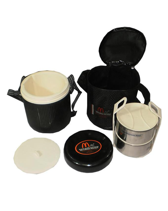 Zipped Tiffin Set 3 in 1 Ideal for Office Use