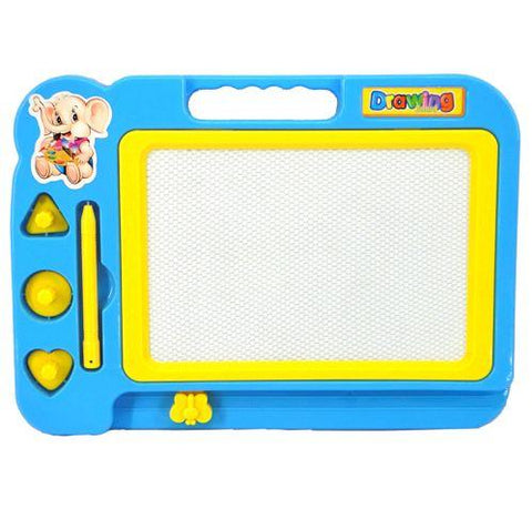 Writing And Drawing Board With Stamps And Pen Magic Slate for Kids Learning 19x27cm Random Color