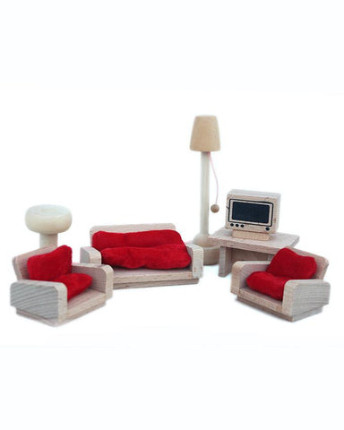 Dollhouse Wooden Furniture- Classic Lounge
