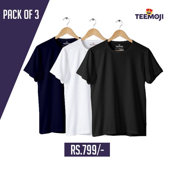 Pack of 3 Tshirts For Men Extra Large