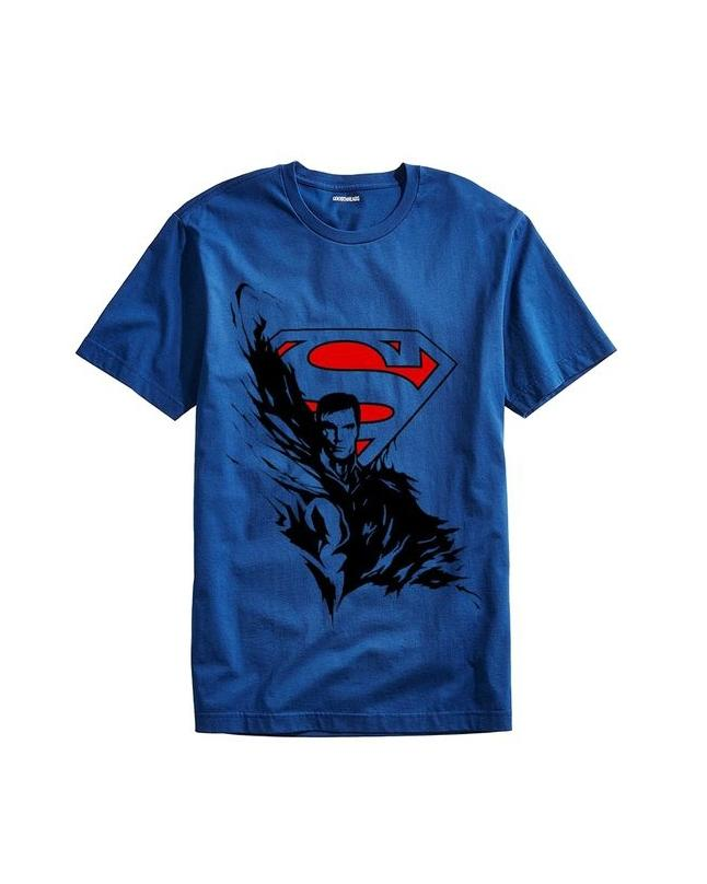 Royal Blue Exclusive Superman Printed T-shirt For Men
