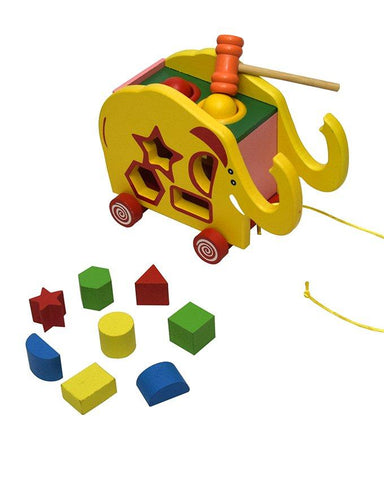 Shape Type The Ball Tractor Wooden Toy