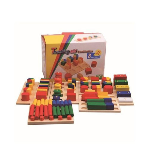 Wooden Teaching Aid Combination 8 Sections