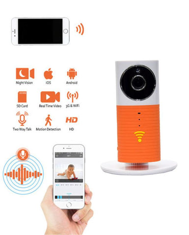 HD WiFi Smart IP Camera - ORANGE