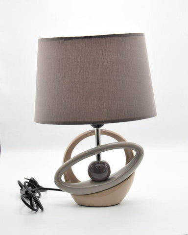 Side Table Ceramic Lamps - Circle - Light Grey
