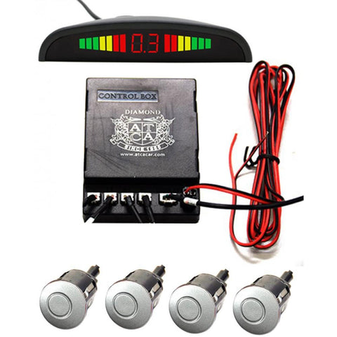 Reverse Parking Sensors With 4 Sensors - Silver