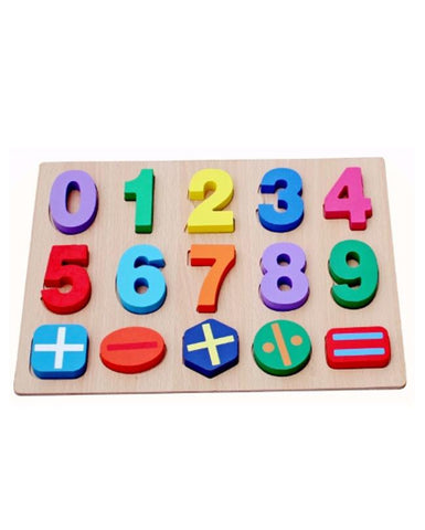 3D Number Wooden Puzzle Board Educational Learning Toy