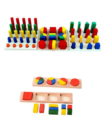 Wooden Teaching Aid Combination