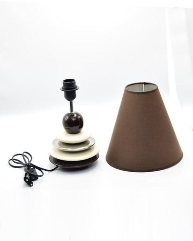Side Table Ceramic Lamps - Plates - Brown