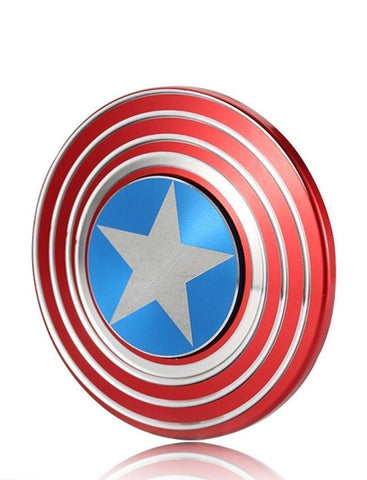 Electrotech Fidget Spinner-Captain America Shield Metal-Red