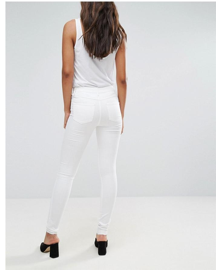 White Faux Leather Pant For Women