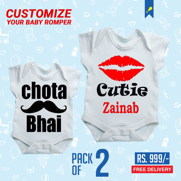 Baby Rompers (Half Sleeve) - Awesomeness Cutie and Chota