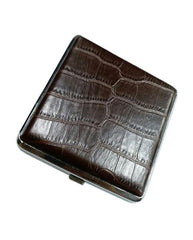 Pu Leather Case - Brown Silver