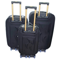 Wedding Luggage Set One Side 4 Wheels Trolley / 3Pcs/Front Pockets-wedblack