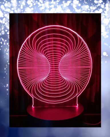 Maze Shape 3D Acrylic Lamp With Plastic Base