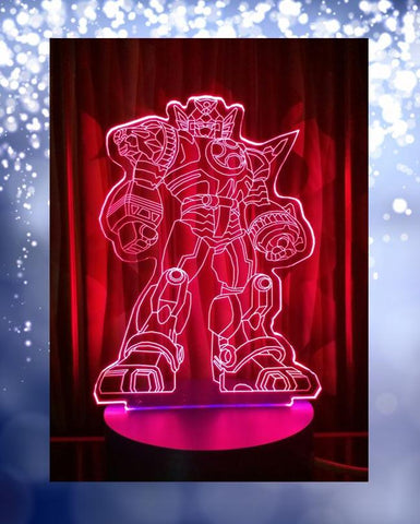 Transformer Shape 3D Acrylic Lamp With Plastic Base