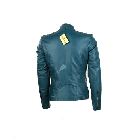 Mega brands Women's Slim Fit PU Leather jacket B-21