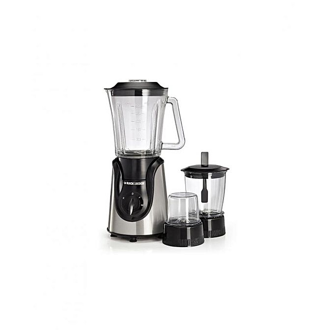 Black & Decker Blender with Grinder and Mincer Chopper-BX600G