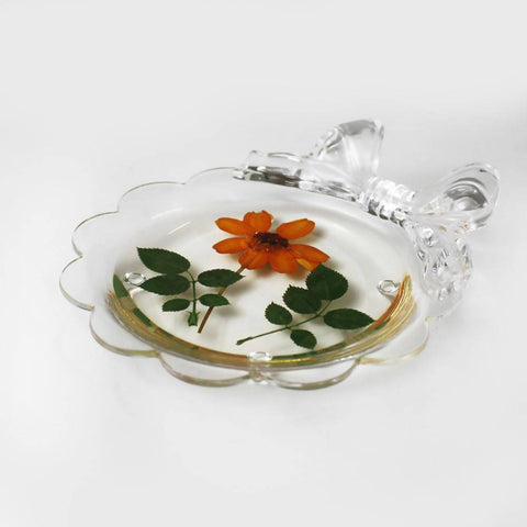 6Pcs Real Flower Acrylic Modern Style Cup Mats 7180