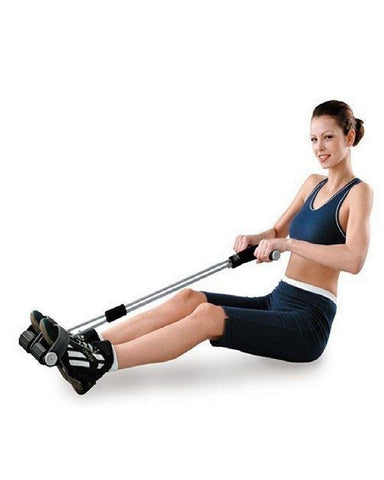 Tummy Trimmer With Single Spring - Black & White-89