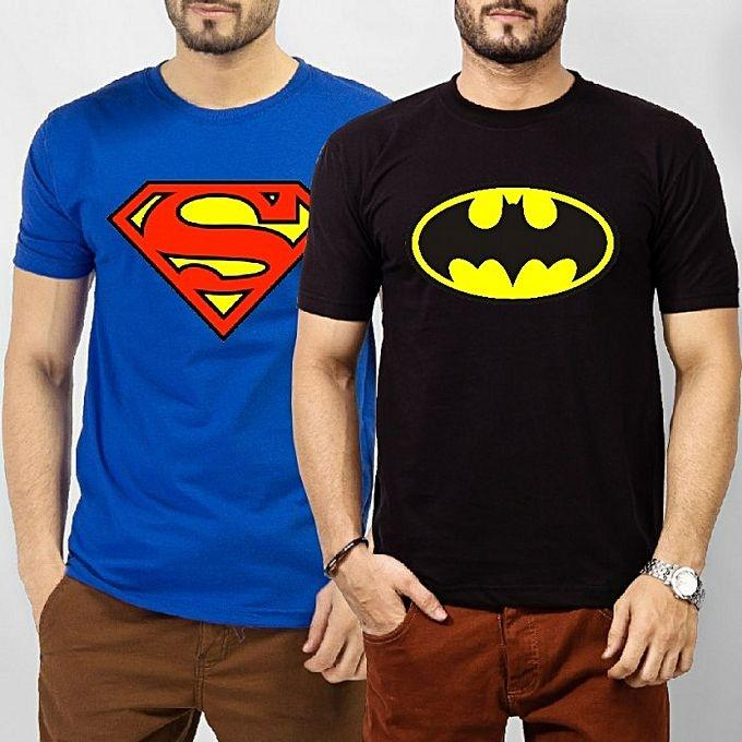 Pack of 2 - Superhero Printed T-shirts For Men