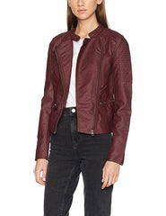 Ladies Pu Leather Jacket Women Pu Leather Jacket OL-03