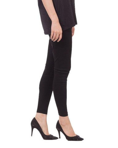 Black Viscose Tights For Women