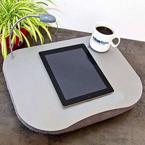 Relaxsit PORTABLE LAP DESK & READING LIGHT LAPTOP LAP TRAY CUSHION LAPTOP DESK TABLE WITH LIGHT LAMP AND CUSHION
