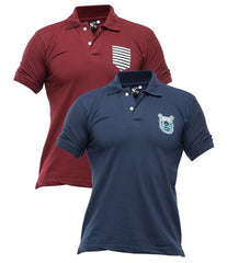 Xander House - Men's Pack of 2 Poly-Cotton Logo Printed Polo T-shirts. XH-916