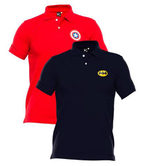 Xander House - Men's Pack of 2 Poly-Cotton Logo Printed Polo T-shirts. XH-921