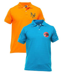 Xander House - Men's Pack of 2 Poly-Cotton Logo Printed Polo T-shirts. XH-923