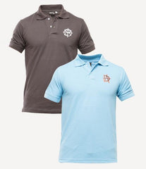 Xander House - Men's Pack of 2 Poly-Cotton Logo Printed Polo T-shirts. XH-917
